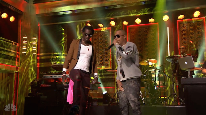 "Young Thug & T.I. Perform ""About The Money"" w/ The Roots On The Tonight Show"