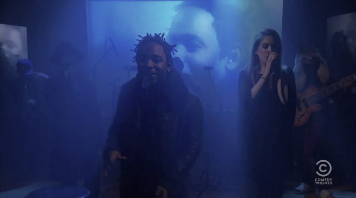 "Kendrick Lamar Debuts New Song ""Untitled"" w/ Bilal & Thundercat Live On The Colbert Report"